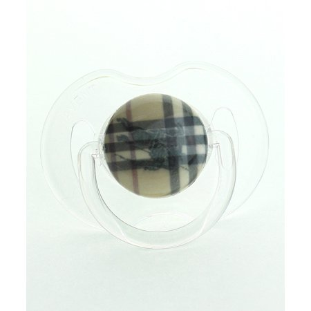 Tan Plaid with Horse Pacifier (Horse Newborn Pacifier)