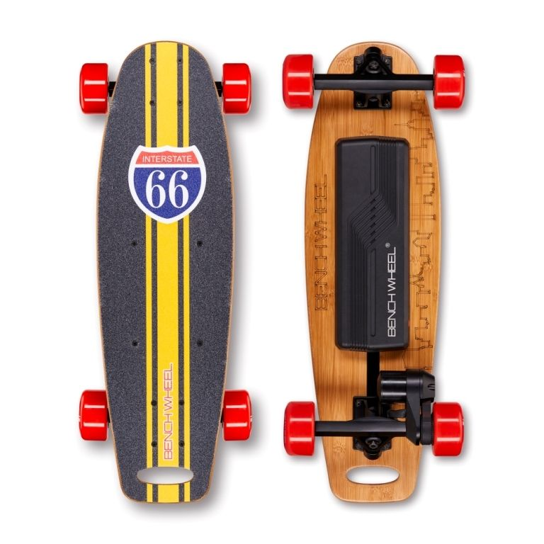 BENCHWHEEL Penny Board 1000W Electric Skateboard (Yellow)