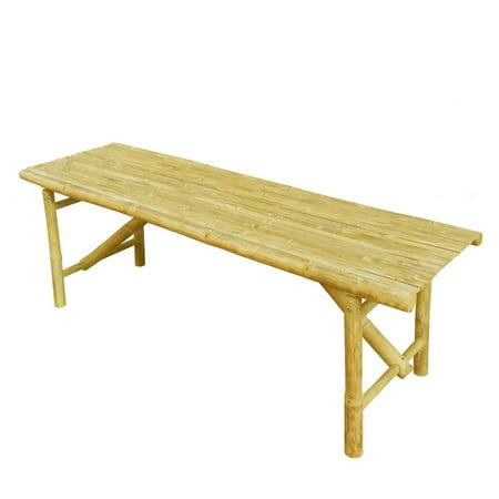 Statra Bamboo 52 in. Backless Slat Bench ()
