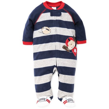d958792c1 LTM Baby - Football Monkey Blanket Sleeper Warm Fleece Footie ...