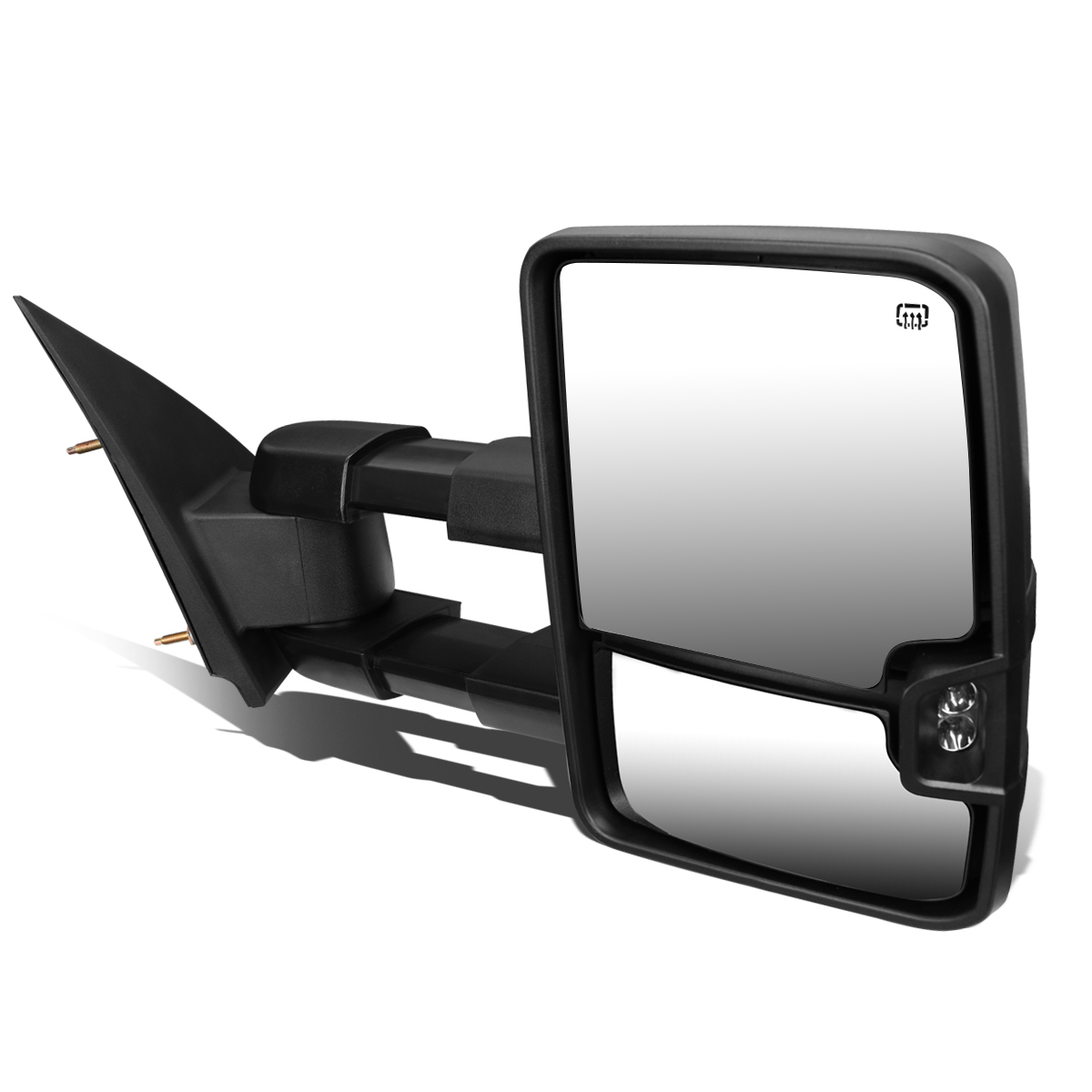 For 2003-2007 Chevy Tahoe/GMC Yukon Powered+Heated+Smoked LED Turn Signal Towing Mirror (Right/Passenger)