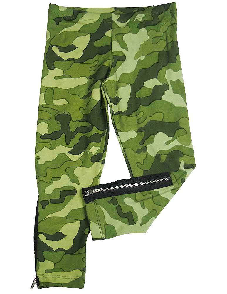 Flowers by Zoe - Little Girls Leggings - Many Styles and Colors to Choose From Army Green / 4