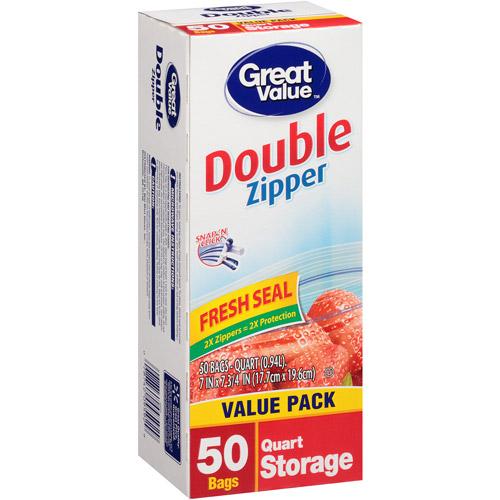 Great Value Storage Quart, 50ct