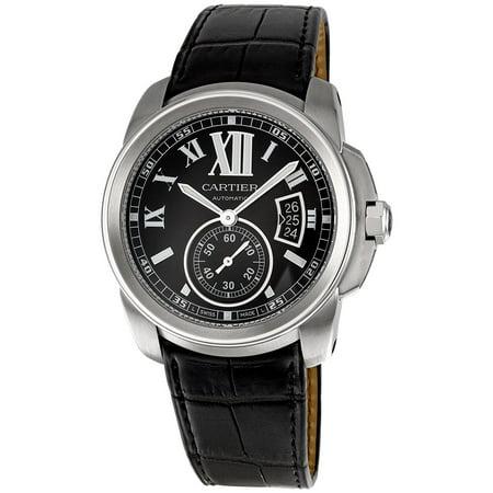 Cartier-Mens-43mm-Black-Calfskin-Band-Steel-Case-Anti-Reflective-Sapphire-Automatic-Analog-Watch-W7100041