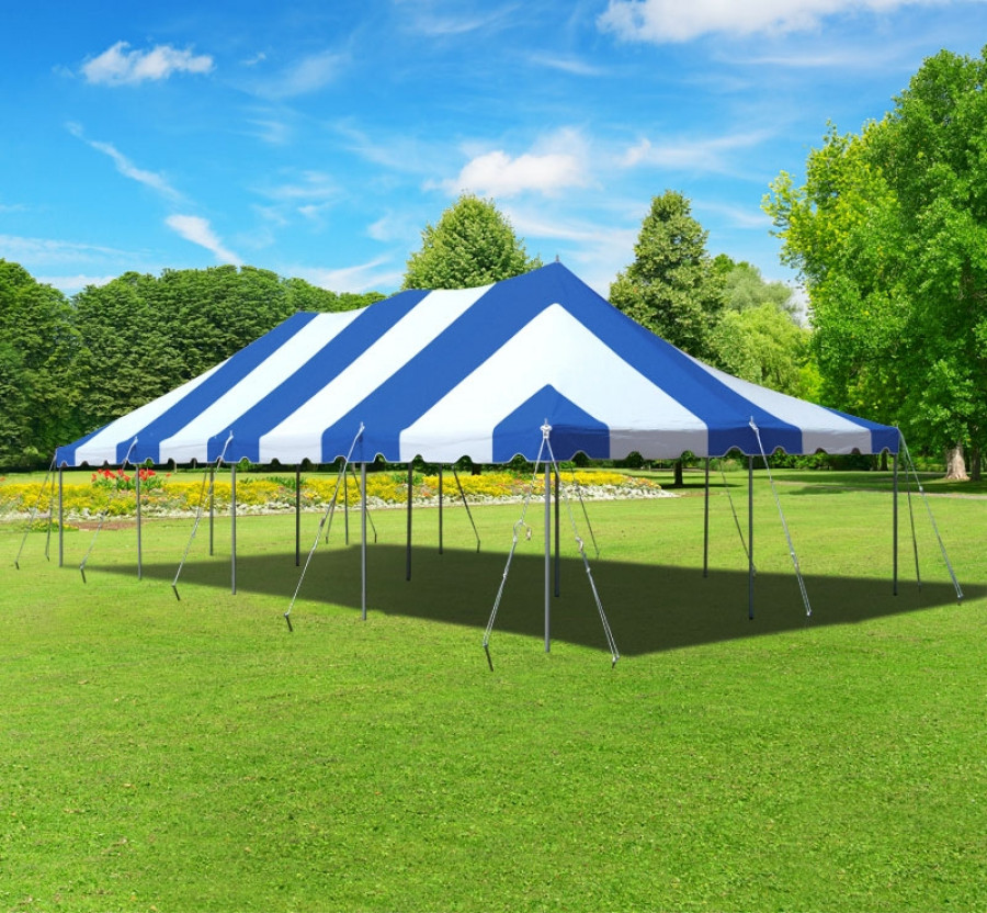 Party Tents Direct 20x40 Outdoor Wedding Canopy Event Pole Tent (Blue)