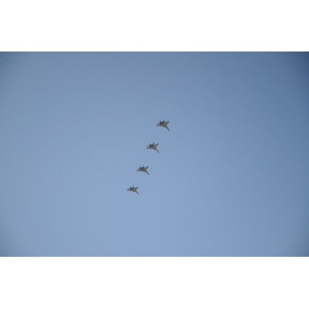 Canvas Print Flying Synchronized Military Combat Jets Aircraft Stretched Canvas 10 x 14](Flying Jets)