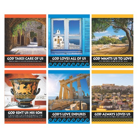 Fun Express - Athens Vbs Poster Set - Educational - Learning Aids - Learning Charts - 6 Pieces](Learning Express Miami)