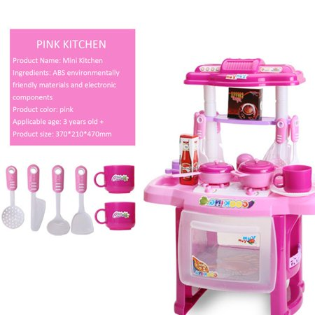 Children'S Educational Light Music Cooking Tableware Play House Kitchen Toys - image 3 of 6