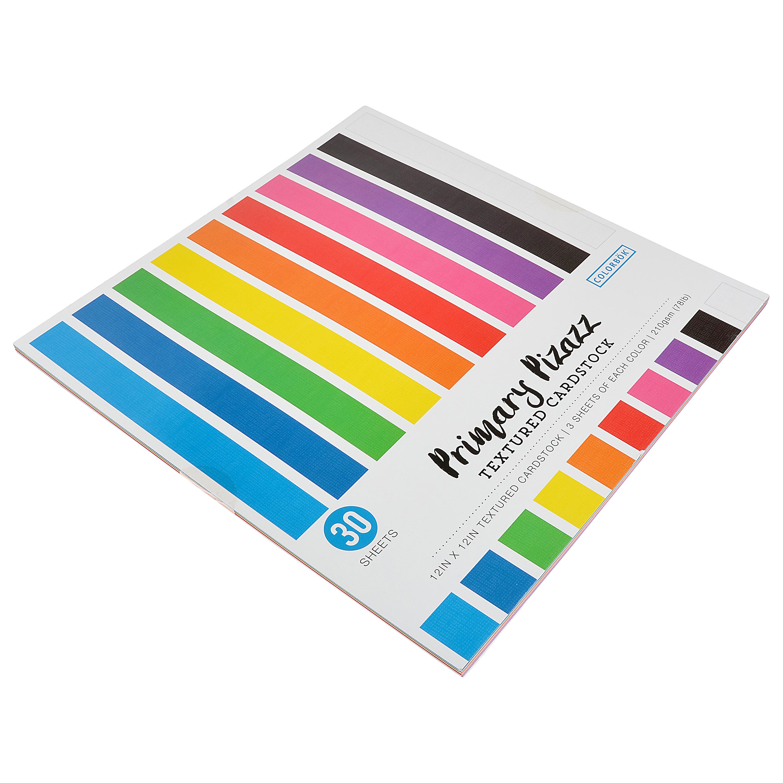 Colorbok 12in Textured Cardstock Primary Pizazz