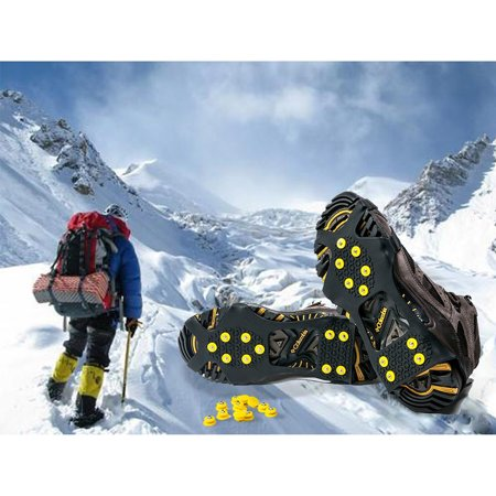 1 Pair Walk Traction Ice Cleat, Non-slip Ice Grips for Shoes and Boots (Best Shoes For Ice Grip)