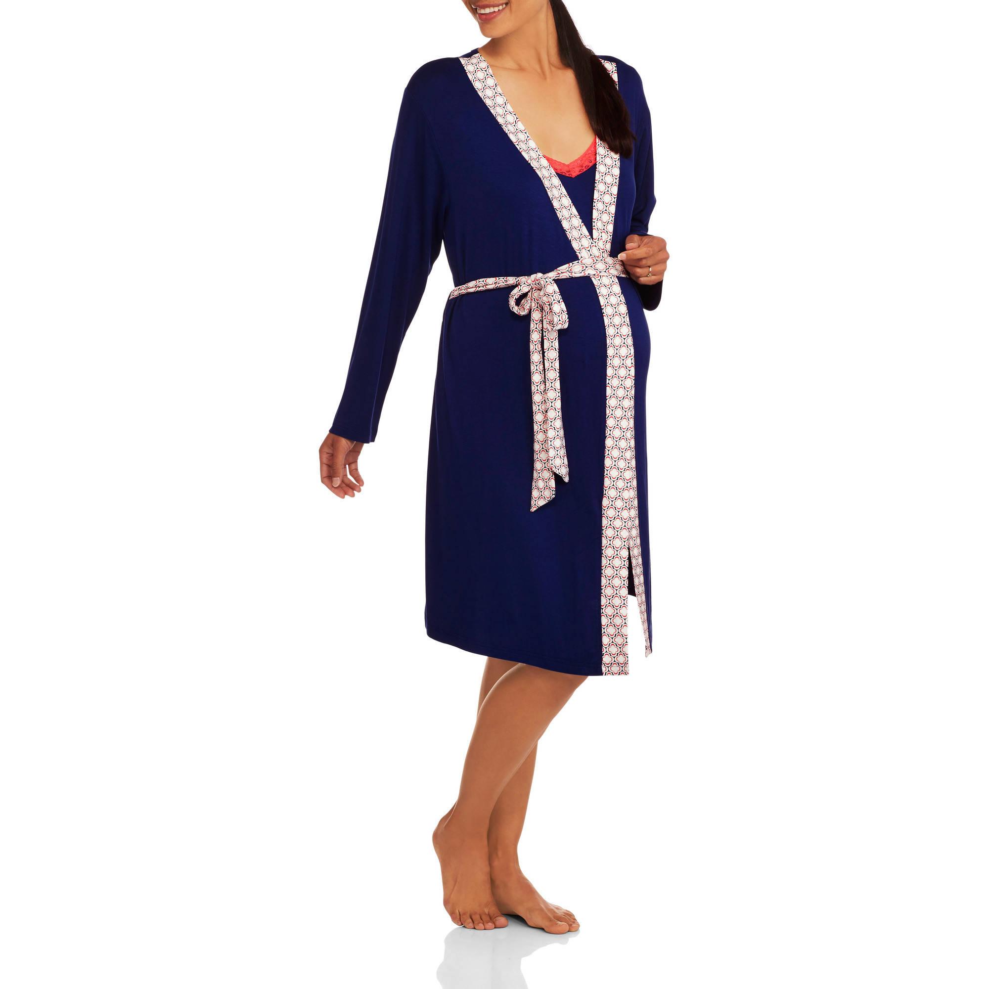 Nurture by Lamaze Maternity 2-Piece Nursing Chemise and Robe Set