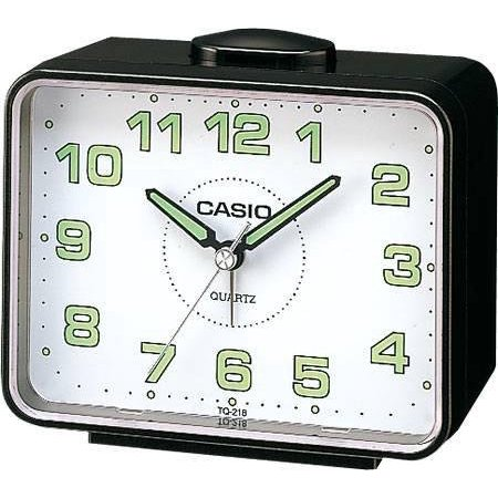 casio tq218 1b table top travel alarm clock. Black Bedroom Furniture Sets. Home Design Ideas