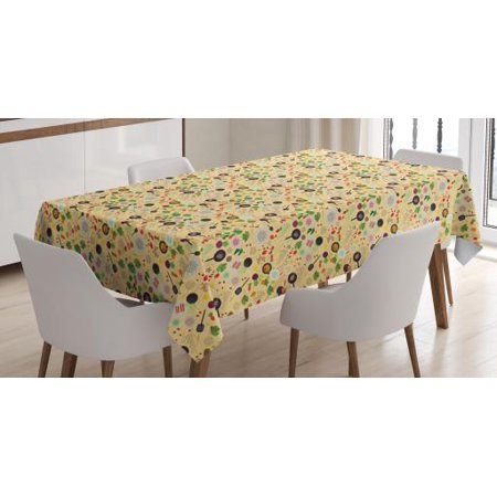 Halloween Themed Food Dishes (Vegetable Tablecloth, Food Ingredient Cookbook Theme Spices Type of Dish Yummy Gourmet Kitchen Print, Rectangular Table Cover for Dining Room Kitchen, 60 X 90 Inches, Multicolor, by)