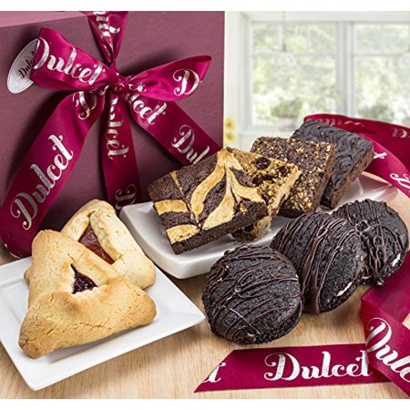 Gourmet Cookies And Brownies - Dulcet's Thank You Cookie and Brownie Combo Gift Basket Treats!