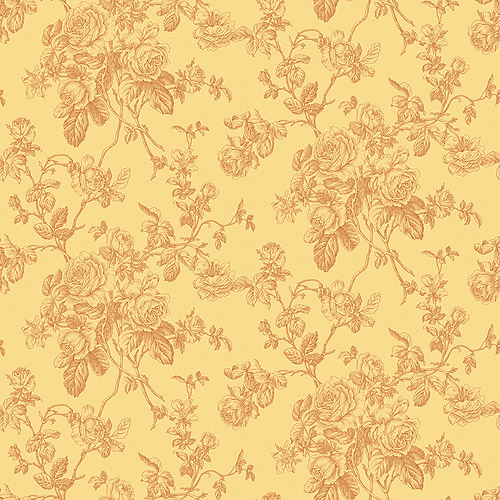 Blue Mountain Elmwood Rose Toile Wallcovering, Burnt Orange