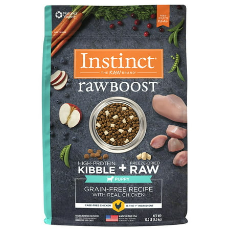 Instinct Raw Boost Puppy Grain-Free Recipe with Real Chicken Natural Dry Dog Food by Nature's Variety, 10 lb. Bag