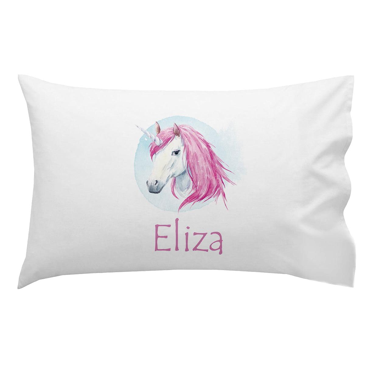 Lifestyles By Ramco Personalized Monogrammed Unicorn Pillowcase For Kidz Walmart Com Walmart Com