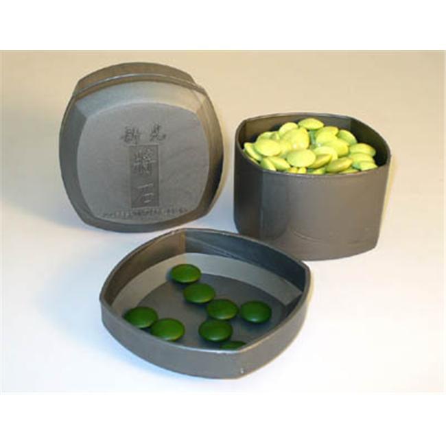 ShinkWang 22801K-8GN 8mm Green Glass Stones and Grey Bowls