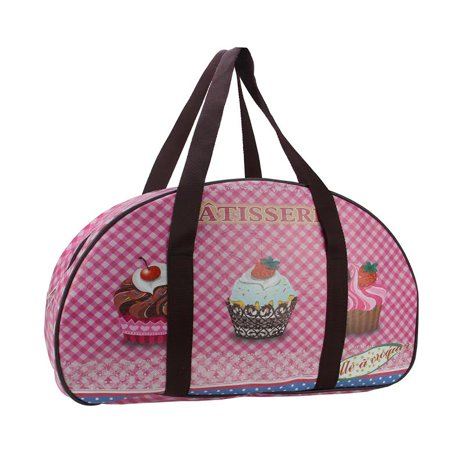 "20"" Decorative French-Style Patisserie and Cupcake Theme Travel Bag/Purse with Handles"