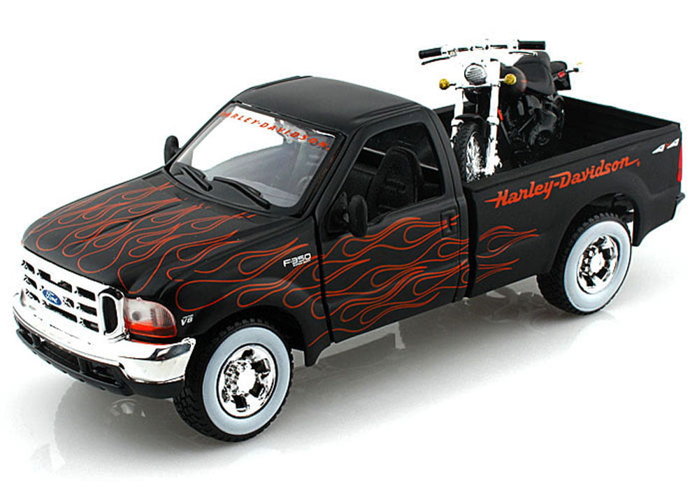 1999 2002 Ford F-350 Super Duty Pickup Harley-Davidson   FXSTB Night Train Motorcycle,... by Maisto