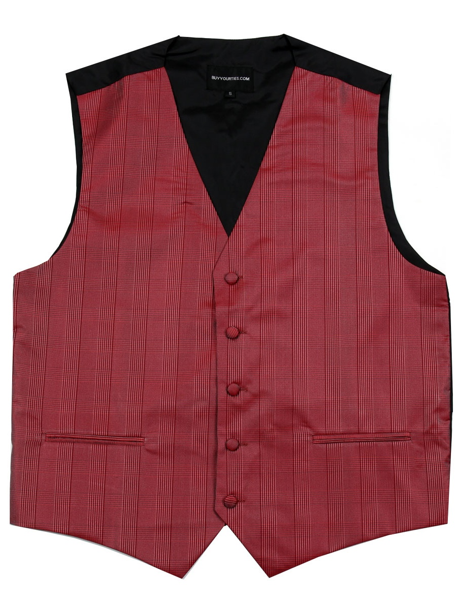 Men's Plaid Dress Vest for Tuxedo and Suit Proms and Weddings