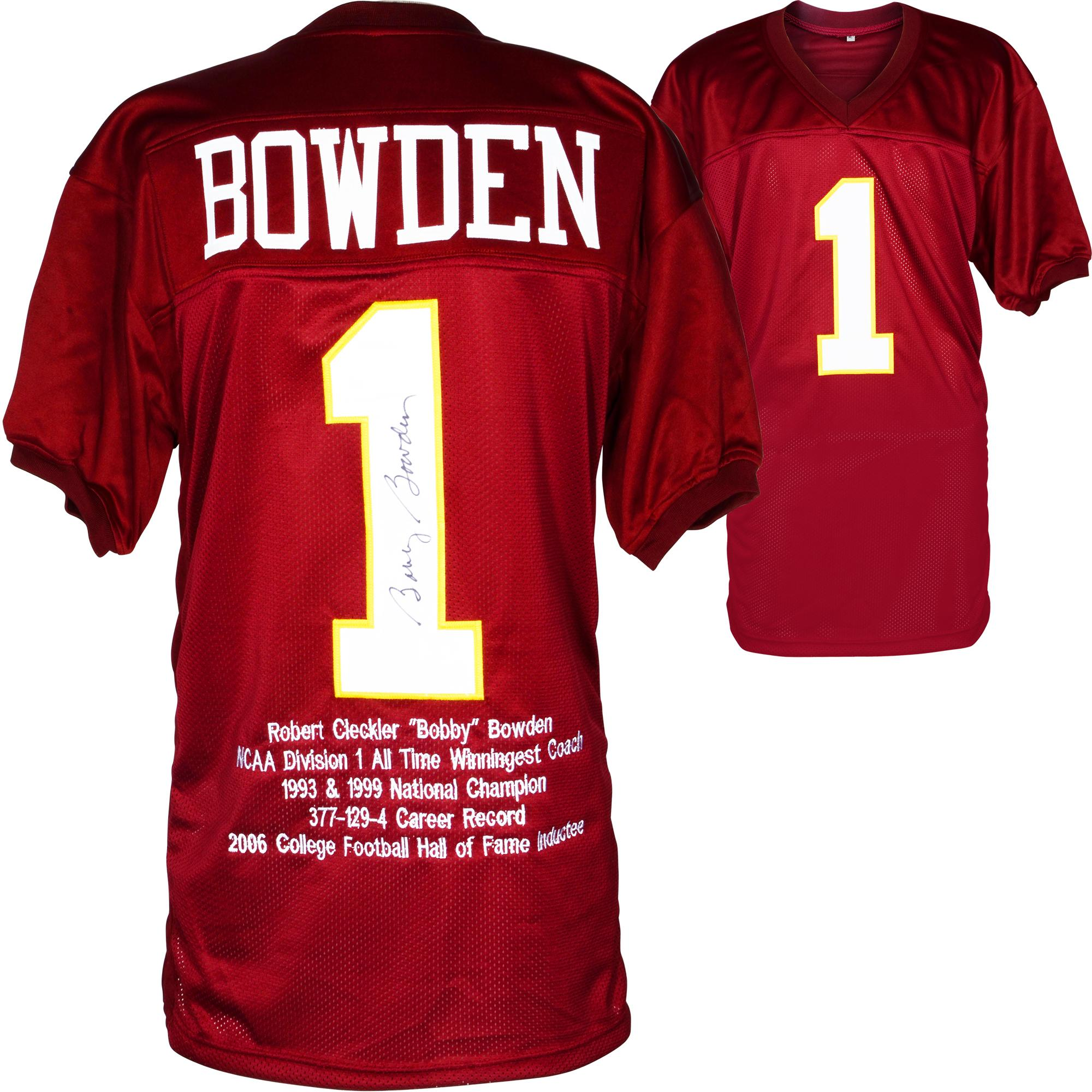 Bobby Bowden Florida State Seminoles Autographed Jersey