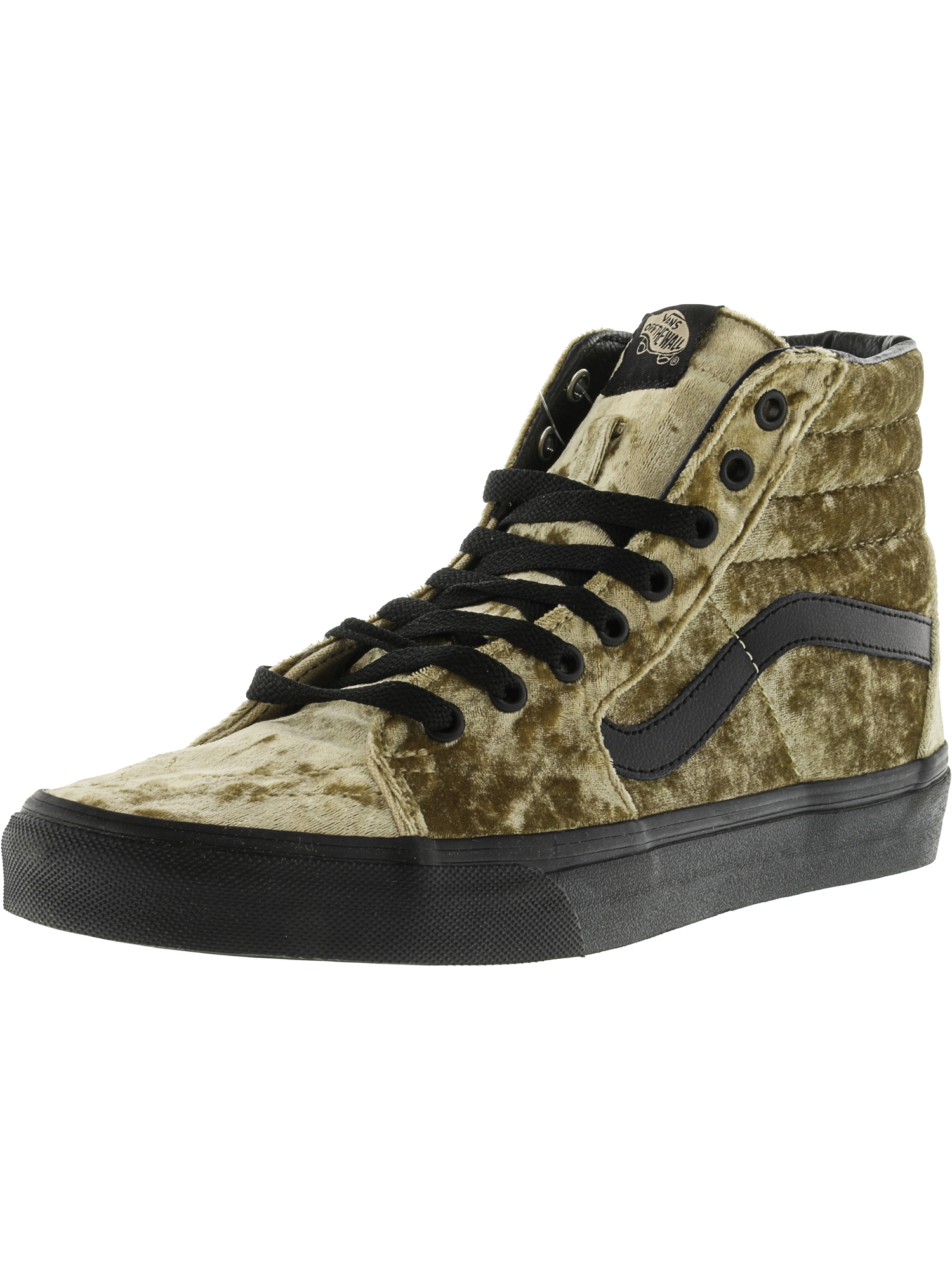 Vans Sk8-Hi Velvet Tan / Black Ankle-High Faux Fur Fashion Sneaker - 10M 8.5M