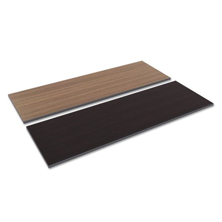Alera Reversible Laminate Table Top, Rectangular, 71 1/2w x 23 5/8d, Espresso/Walnut ()