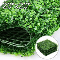 "12PCS 20"" x 20"" Artificial Boxwood Panel Hedge Greenery Indoor & Outdoor"