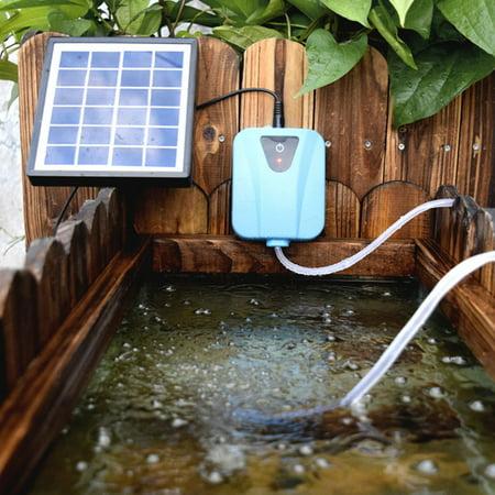 Solar Powered Oxygenator Water Oxygen Pump Pond Aerator Aquarium