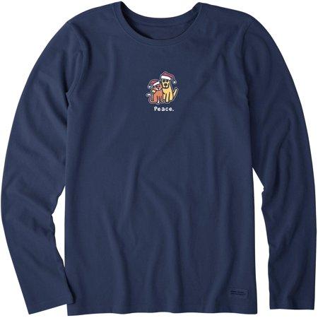 Life Is Good Womens Peace Crusher Long Sleeve T-Shirt ()