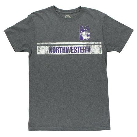E5 Mens Northwestern Wildcats Baseline Tee  Shirts Charcoal Grey/White/Purple