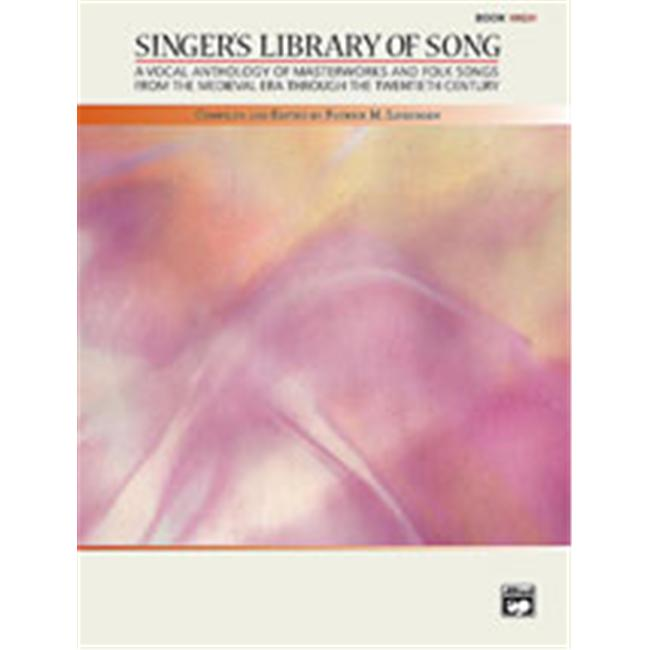 Alfred 00-23498 Singer s Library of Song Music Book by Alfred