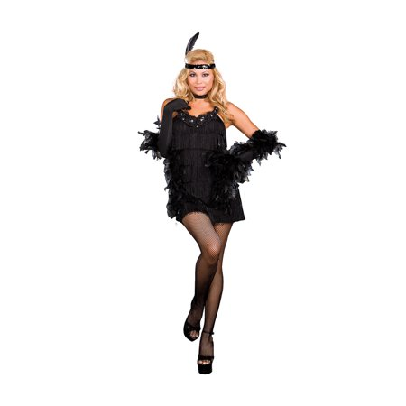 76ee7f235 Sexy All That Jazz 20's Flapper Costume Adult - Walmart.com