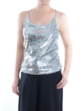 e38484d3d4e Product Image Anna-Kaci Summer Womens Vest Sequin Spaghetti Strap Crop Camisole  Tank Top, Matte or