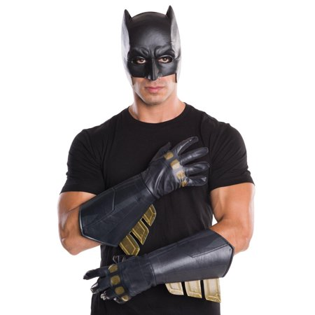 Batman Vs Superman: Dawn of Justice Men's Adult Batman Gauntlets  Halloween Costume Accessory