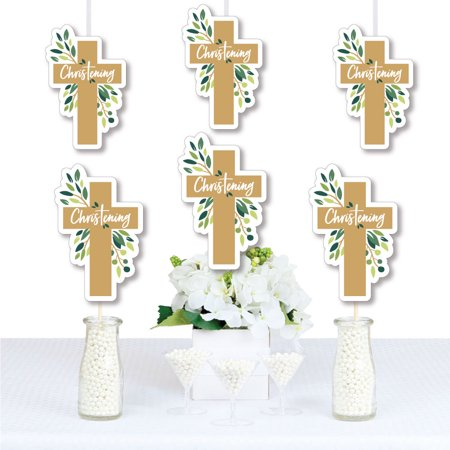 Christening  Elegant Cross - Decorations DIY Religious Party Essentials - Set of 20](Christening Decorations)