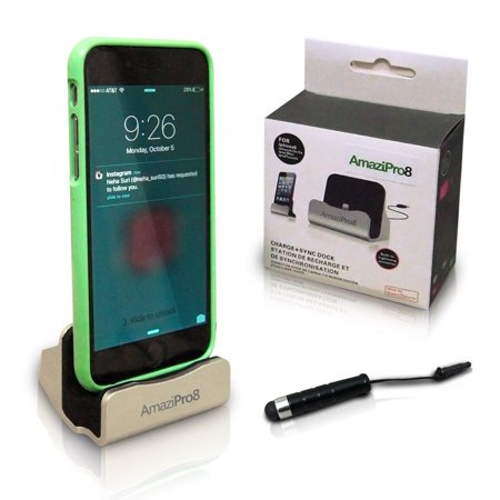 best website bd261 7e15c AmaziPro8 iPhone Charger Docking Station+ Stylus + Dust Plug, Best USB  Lightning Cable, Charge Sync Stand, Cradle Charging Dock Stations for Apple  6 ...