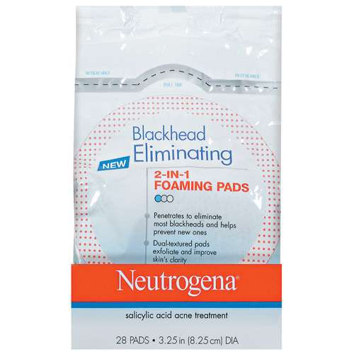 Neutrogena 2 In 1 Foaming Pads Blackhead Eliminating, 28ct - Walmart.com