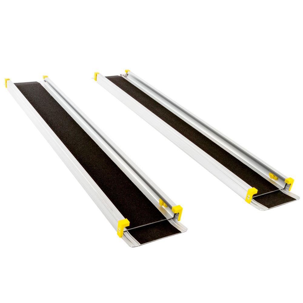 Adjustable Wheelchair Telescoping Track Ramps