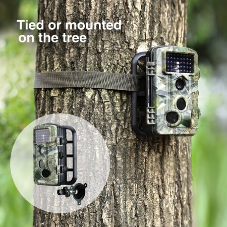 Trail Camera with Night Version, Enkeeo PH730S 1080P HD Game & Trail Camera 12M Wildlife Hunting Trail Cam Long Range Infrared Night Vision with Time Lapse & 2.4