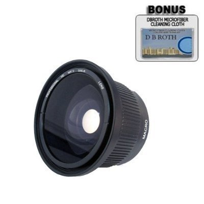 .42x HD Super Wide Angle Fisheye Lens For The Nikon D5300, D5000, D3000, D3300, D3200, D5100, D5200, D3100, D7000, D7100, D750, D4, D800, D800E, D810, D600, D610, D40.., By
