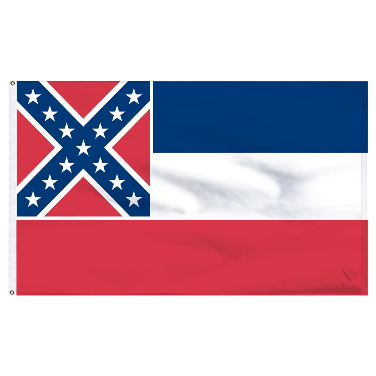 Mississippi 3x5ft Nylon Flag with Pole Hem Only - Banner