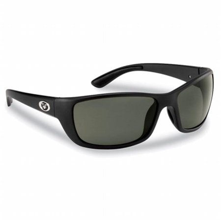 Cay Sal Polarized Sunglasses, Matte Black Frames With Smoke