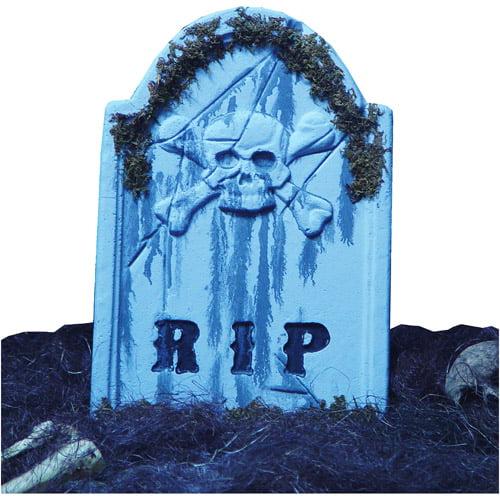 "Halloween Tombstone Skullface, 22"" x 16"" x 1"""