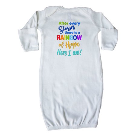 After Every Storm, There Is a Rainbow of Hope- Here I Am! Newborn Layette White Newborn