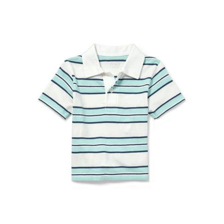 Short Sleeve Stripe Polo (Baby Boys & Toddler Boys)