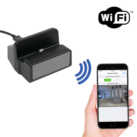 (SpygearGadgets 1080P HD WiFi Internet Streaming iPhone Charger Dock Station Hidden Nanny Cam / Spy Camera / Nanny Cam | Model HC430w)
