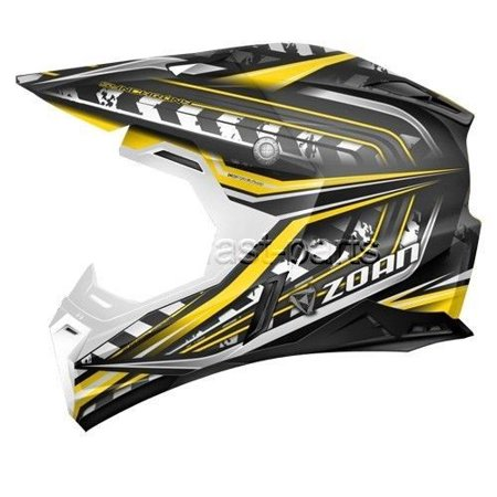 Zoan 521 139 Synchrony Mx Helmet  Monster Black Yellow   3X