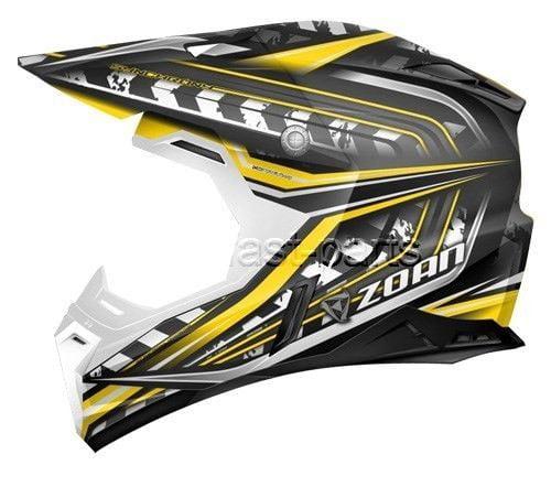 ZOAN 521-134 Synchrony Mx Helmet, Monster Black/yellow - sm